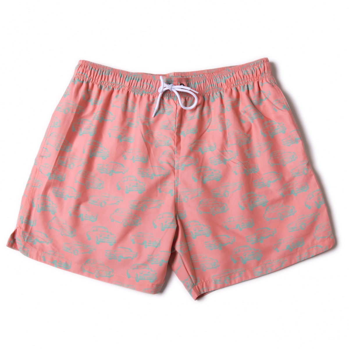 Men Swim Shorts Cars Pink