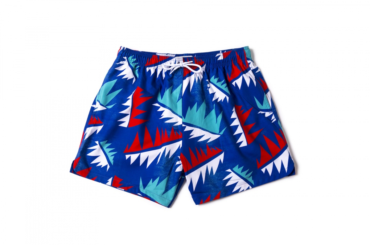 Men Swim Shorts Palm Tree Cuba